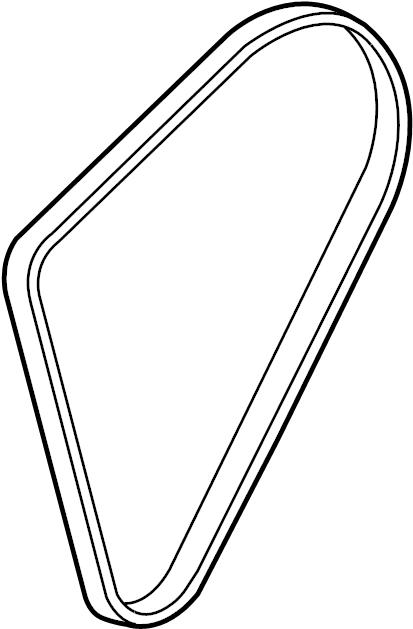 2006 buick lucerne cxl belt  serpentine belt  4 6 liter