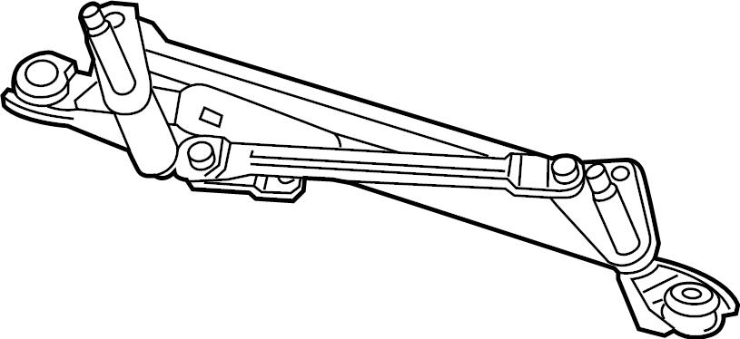 chevrolet trax lt frame  front transmission  wiper linkage