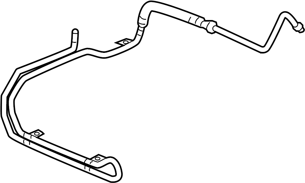 15777212 - pontiac steering  power  hose  cooler  assembly