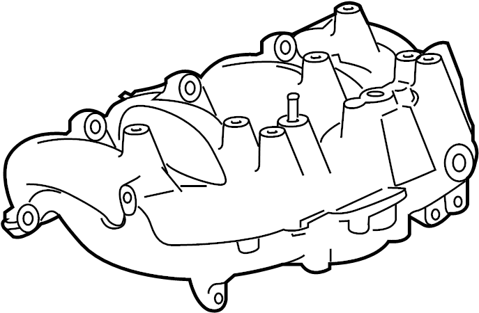 Buick Verano Engine Intake Manifold  2 0 Liter Turbo  2 0