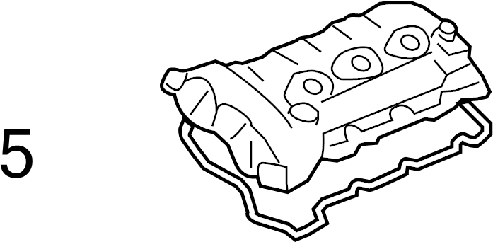 2012 buick enclave engine valve cover gasket  right  liter  direct
