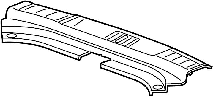 cadillac srx base liftgate trim scuff plate sill trim. Black Bedroom Furniture Sets. Home Design Ideas