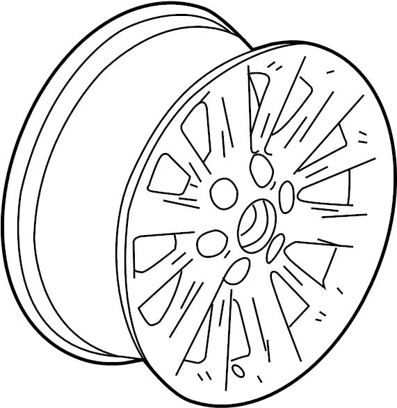2015 cadillac xts vsport platinum wheel  wheel  alloy  18  code  rv1  rqa  reh