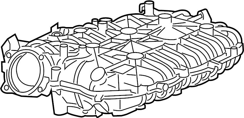 2013 buick enclave engine intake manifold  intake plenum