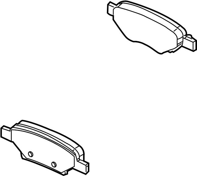 2007 Pontiac Disc Brake Pad Set  Rear   Pads  Brakes