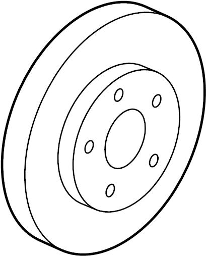 Pontiac G6 Disc Brake Rotor  Left  Right  Wheels