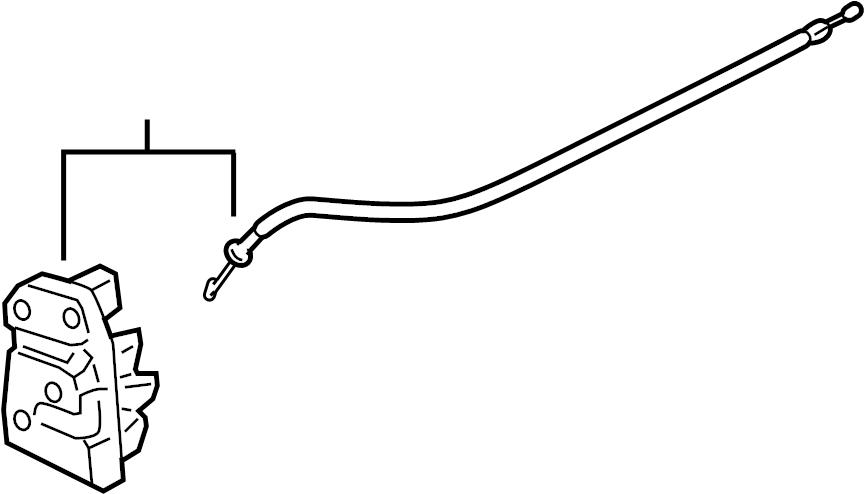 2008 chevrolet malibu lock  latch  actuator   rear   door  left  cashmere