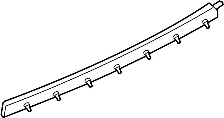 2007 saturn sky belt  molding  strip  sealing   front