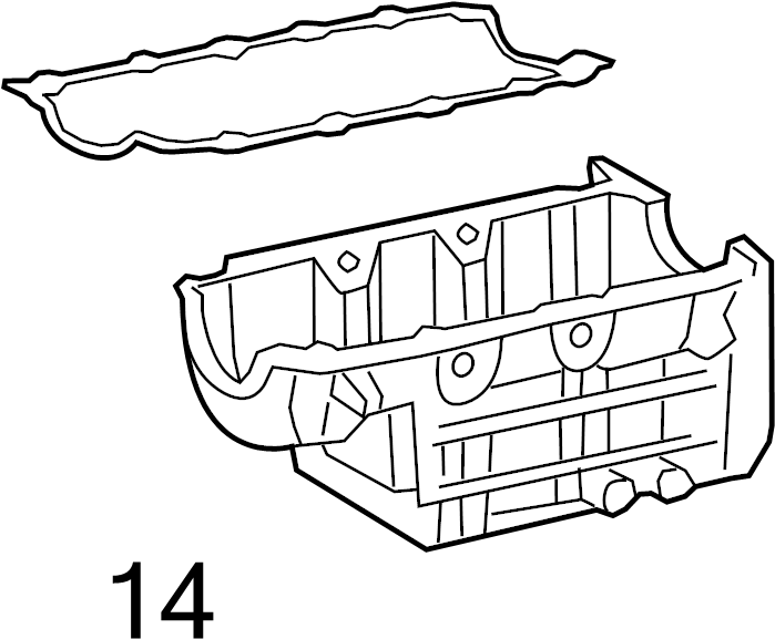 Pontiac Torrent Engine Oil Pan Gasket  3 4 Liter  Equinox