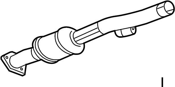 2013 chevrolet equinox pipe  converter  and amplifier  catalytic cnvrtr  center  exhaust