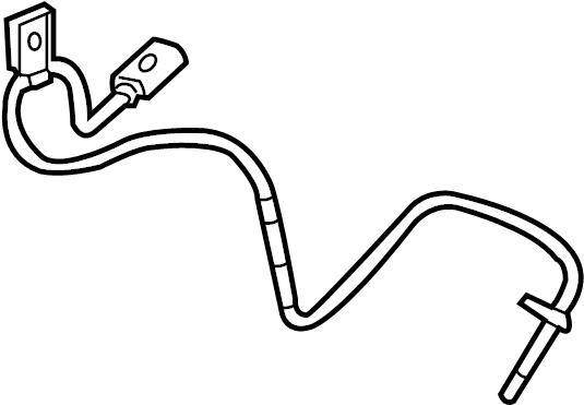 2012 chevrolet equinox ls abs sensor  front speed sensor  sensor  equinox  terrain  left