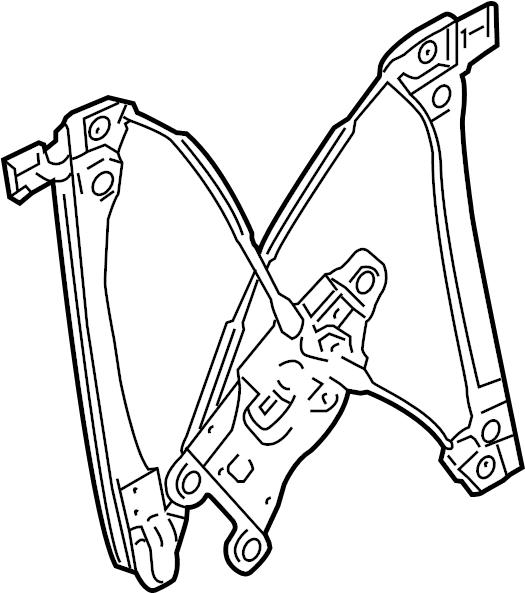 gmc terrain sle regulator  window regulator  equinox  terrain  left  includes window motor