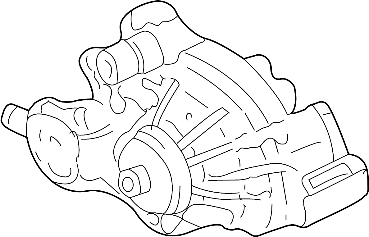 2014 gmc savana 1500 engine water pump  water pump  incl