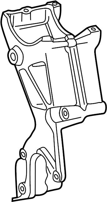1997 Chevrolet C1500 Alternator Bracket  Bracket