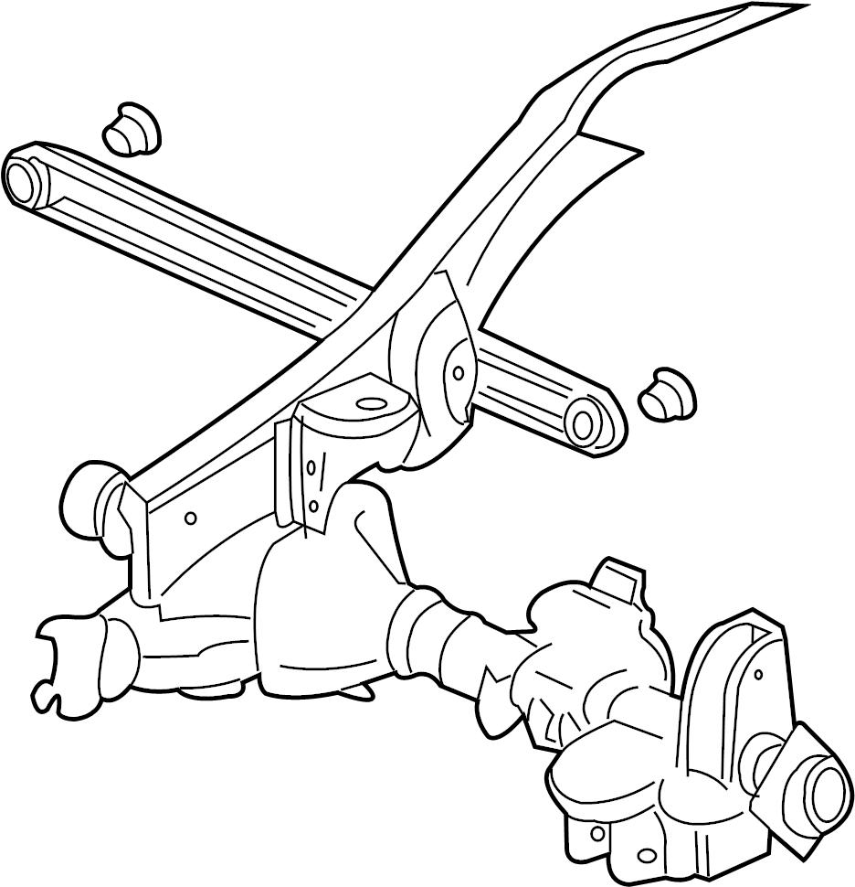 gmc sierra 1500 insulator  lateral arm  rod  track bar