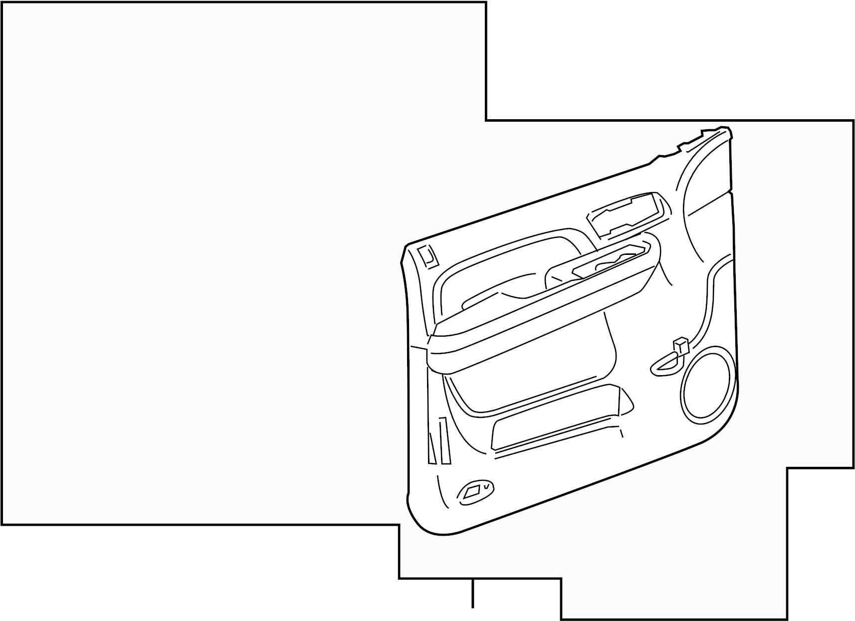 2013 gmc yukon sle door trim panel  panel  chevrolet  gmc