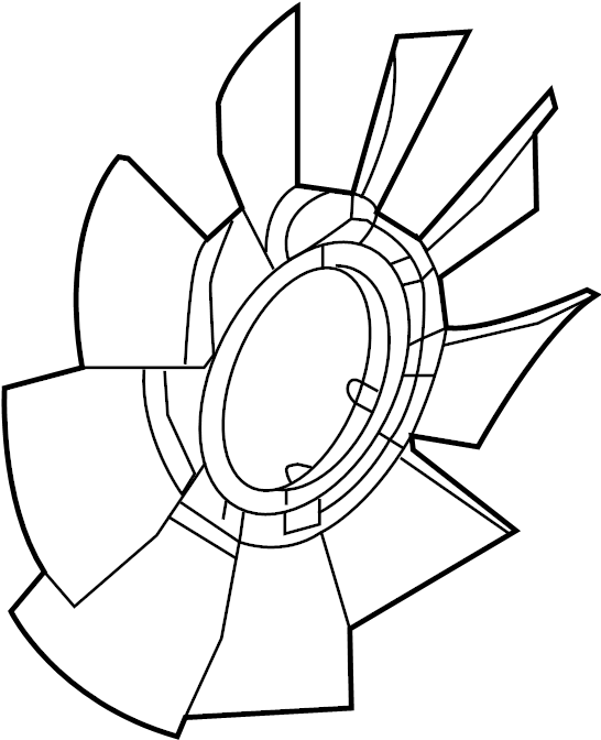 Chevrolet Colorado Engine Cooling Fan Clutch Blade  2 8