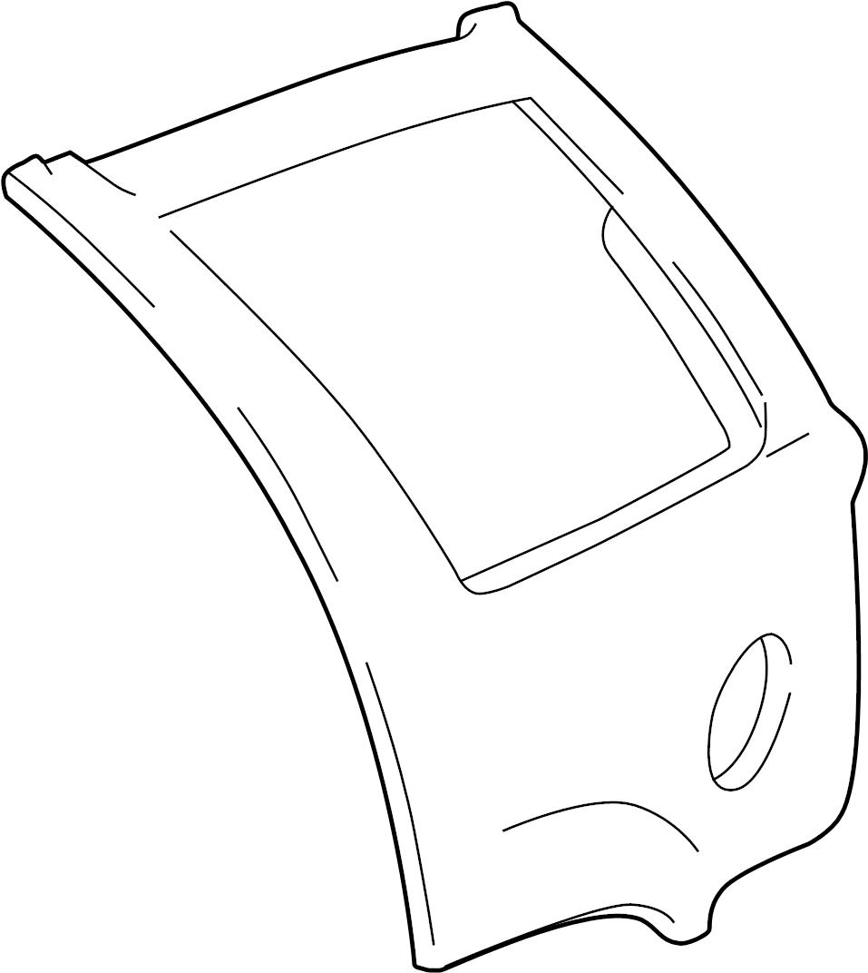 1995 gmc jimmy panel  quarter  outer  rear  side  quarter