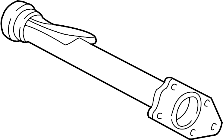1995 chevrolet astro axle tube  output shaft tube assembly