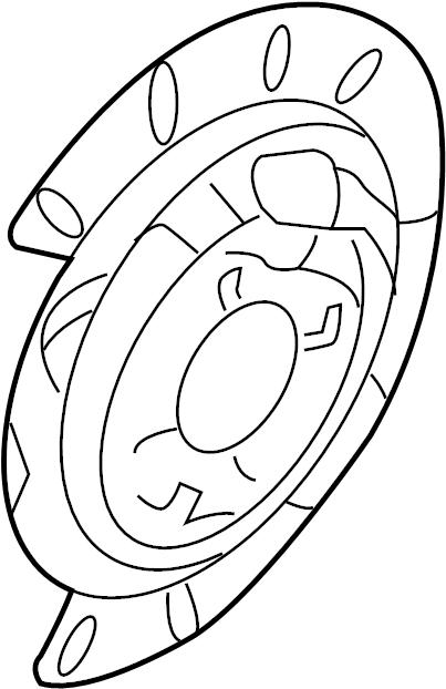 2004 Chevrolet Astro Backing Plate Shield Disc Brakes