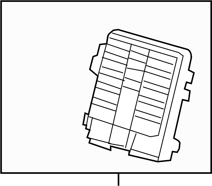 2014 cadillac escalade base fuse box  junction block