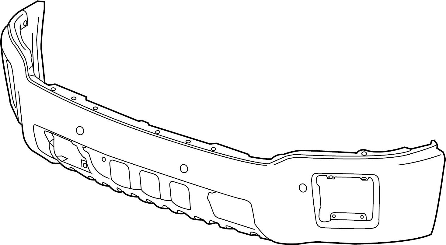 gmc sierra 1500 bumper  bar  face  spacer  front  impact