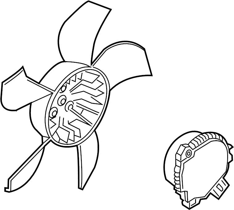 chevrolet silverado 1500 motor  fan  blade  and
