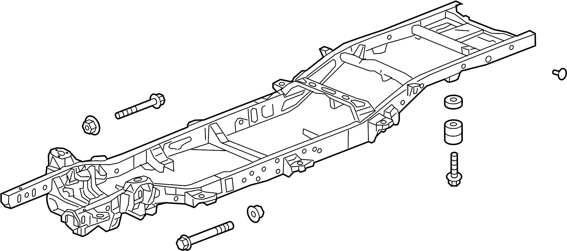 Gmc Sierra 1500 Frame Rail  2wd  Regular Cab  6 6 Ft Box  4wd  Regular Cab  6 6 Ft Box