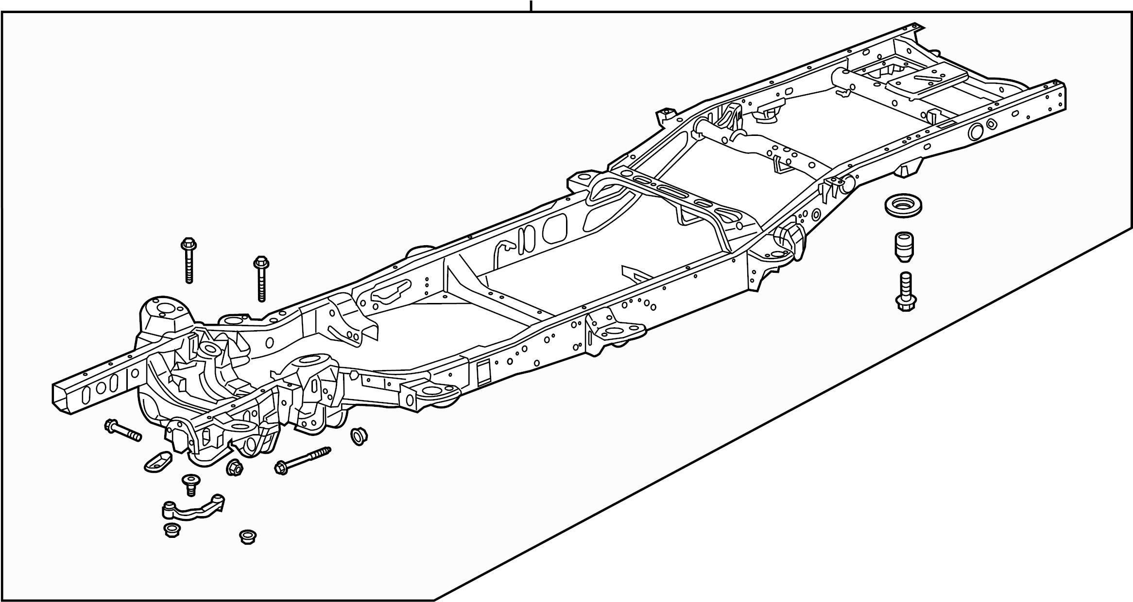 2016 Chevrolet Silverado 1500 Frame Assy  Frame Rail