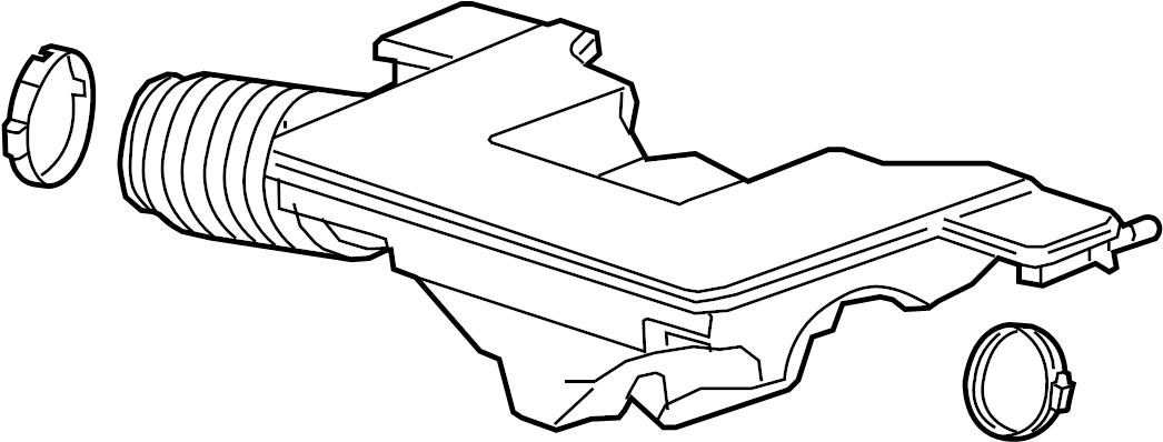 Cadillac Escalade Engine Air Intake Hose  5 3  U0026 6 2 Liter  6 2 Liter  6 2 Liter