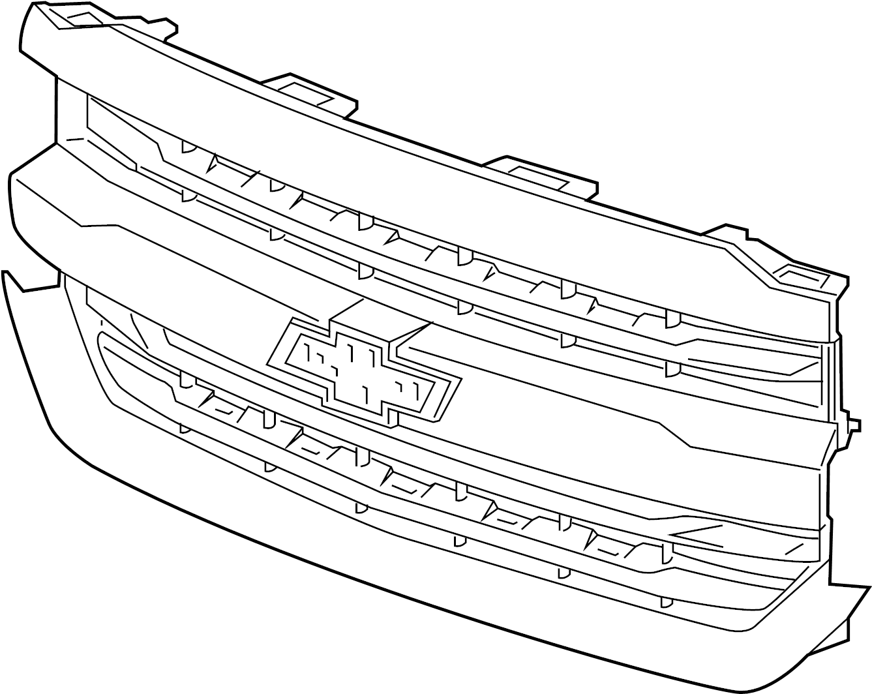 denali  grille  grille  u0026 components   for 2016 chevrolet