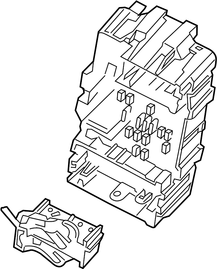 84075773 Chevrolet Block Fuse And Relay Box Engine