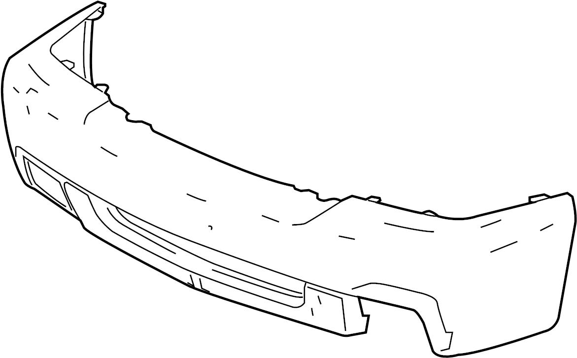 2005 chevrolet silverado 1500 ss bumper cover fascia. Black Bedroom Furniture Sets. Home Design Ideas