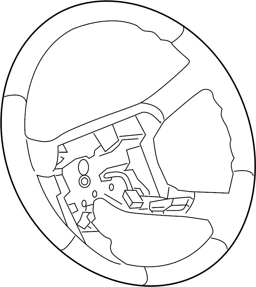 2008 chevrolet trailblazer steering wheel  wleather