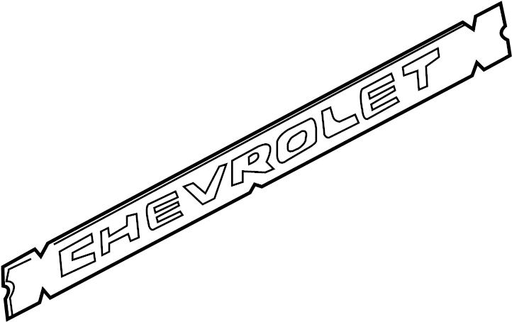 2004 emblem  applique  decal  nameplate  tail gate logo