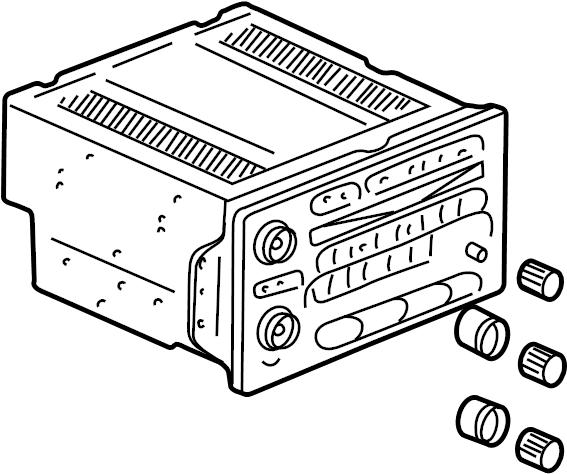 2004 chevrolet trailblazer radio  am  fm cd player  w  multi