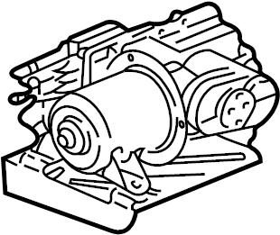 2006 gmc compressor compressor assy suspension air rainier car