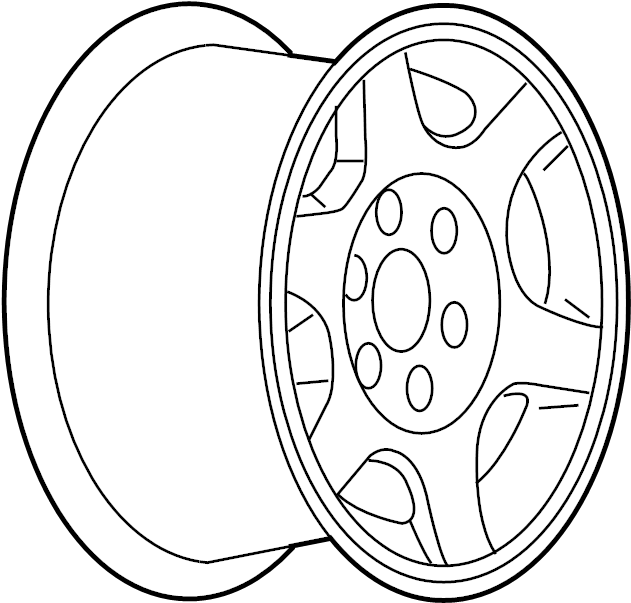 2007 gmc sierra 1500 classic wheel  alloy  17  gmc  17x7 5