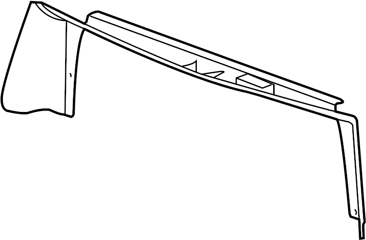 2011 chevrolet radiator support air deflector  upper   liter  front  components