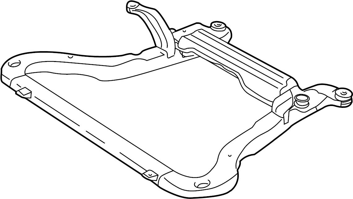 22686400 - saturn suspension  frame  cradle  engine  assembly