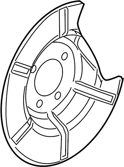 Pontiac G6 Shield  Brake  Backing Plate  Splash   Left