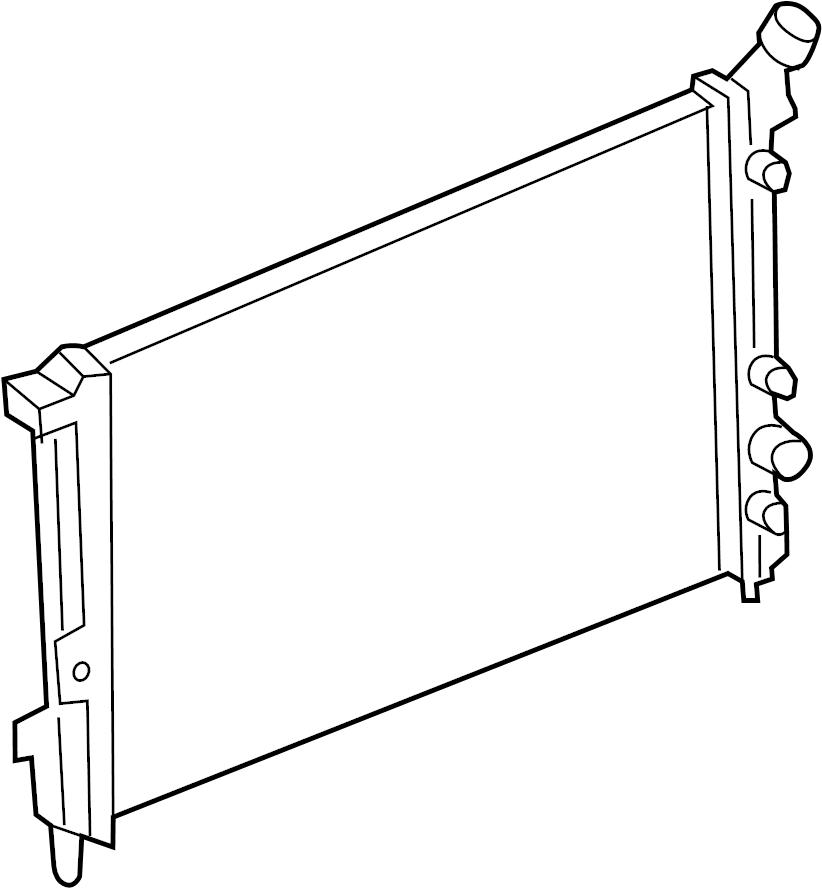 2006 cadillac radiator cooling parts