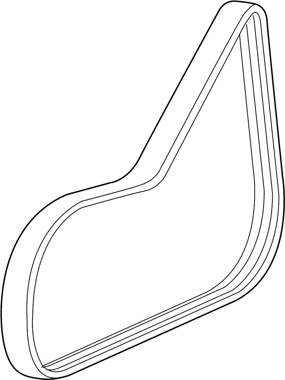 2006 chevrolet ac belt  belt  belt c cmpr  serpentine belt  chevrolet  pontiac