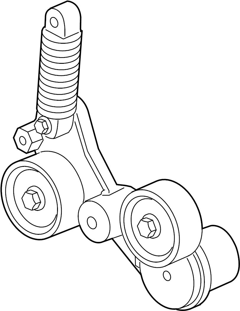 buick regal premium belt tensioner  drive belt tensioner