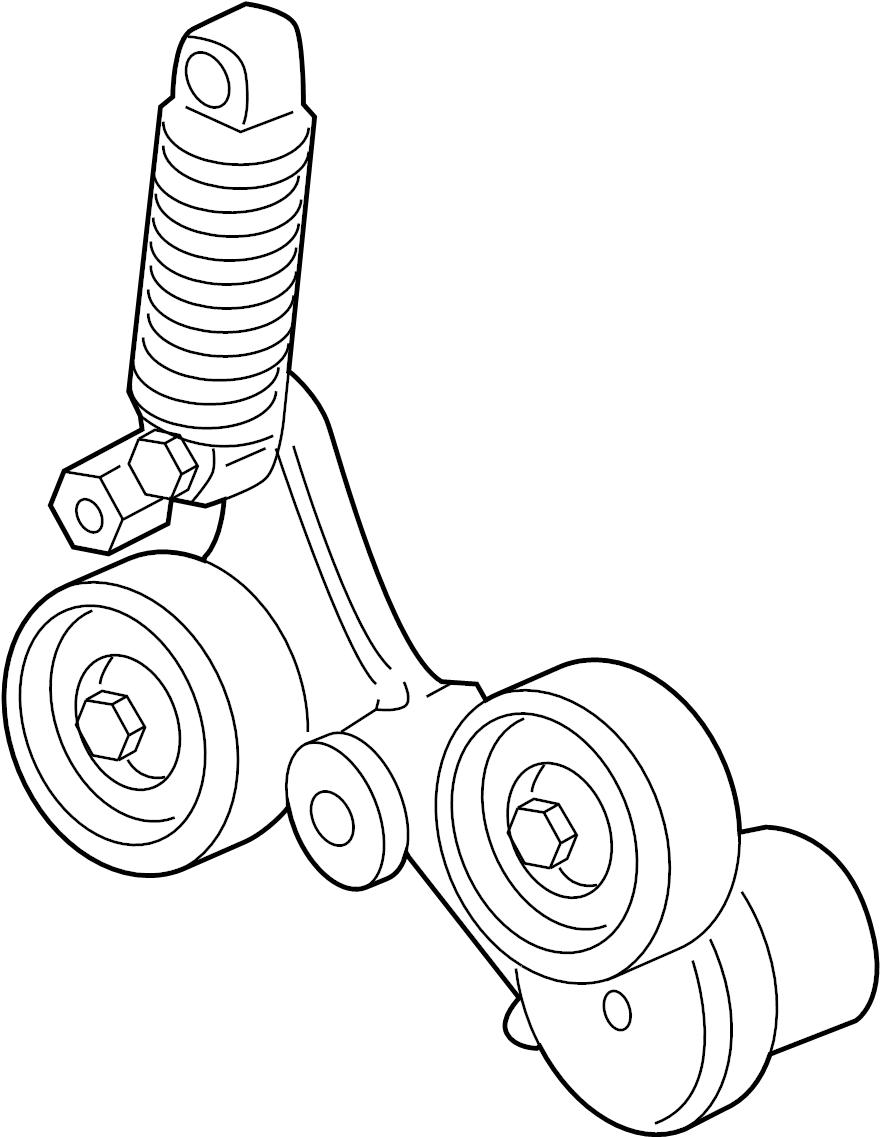 buick regal base belt tensioner  drive belt tensioner