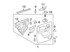 Chevrolet avalanche panel door trim trim panel that - Chevy avalanche interior trim parts ...